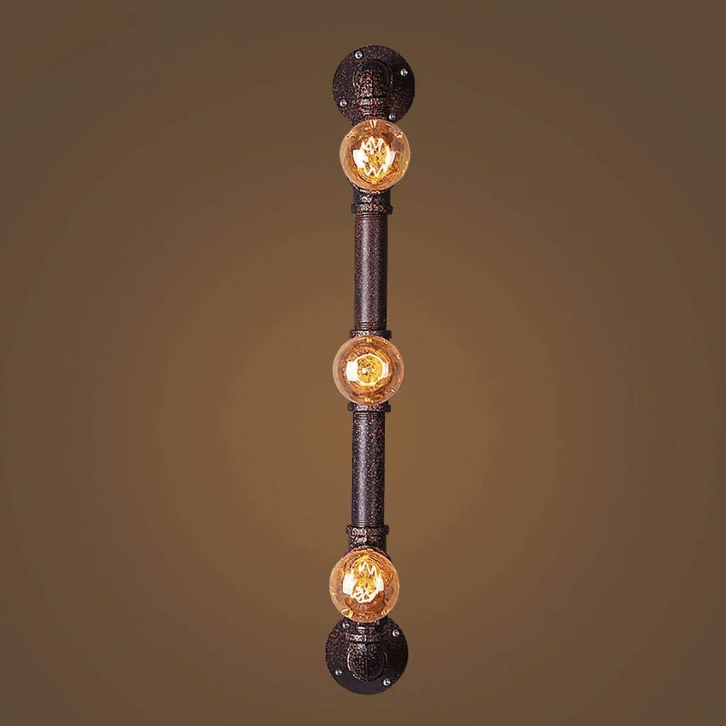 YWJWJ Retro Irons Wall Lamp Tube, Loft Creativo di Industria del Vento Lanterne di Decorazione commessa Ristorante Coffee Shop Bar Irons E27 Nuove Linee,A