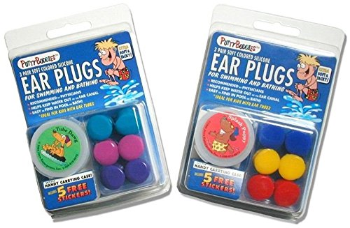 Jaco Enterprises 2 PACK!!! 6 Pair Putty Buddies WaterBlock Swimming Ear Plugs - Qty.2 3packs Included - Teal, Purple, Magenta Color Ear Plugs