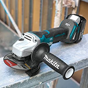 "Makita XAG11T 18V LXT Lithium-Ion Brushless Cordless 4-1/2""/ 5 Paddle Switch Cut-Off/Angle Grinder Kit, with Electric Brake (5.0Ah)"