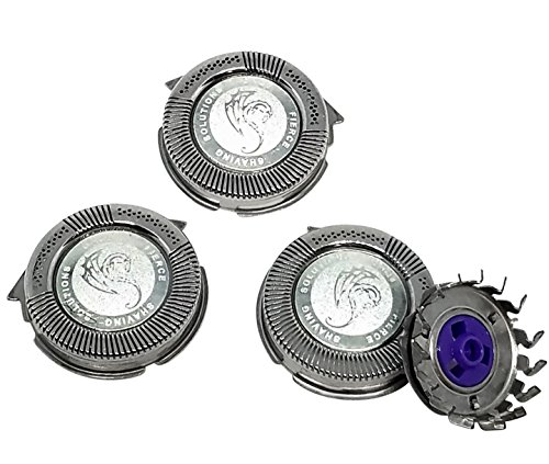 - SH50/52 Replacement Heads Set of 3 Dual Precision Silver Dragon Universal Cooling Surface Blades for Philips Norelco Compatible Electric Shaver Series 5000