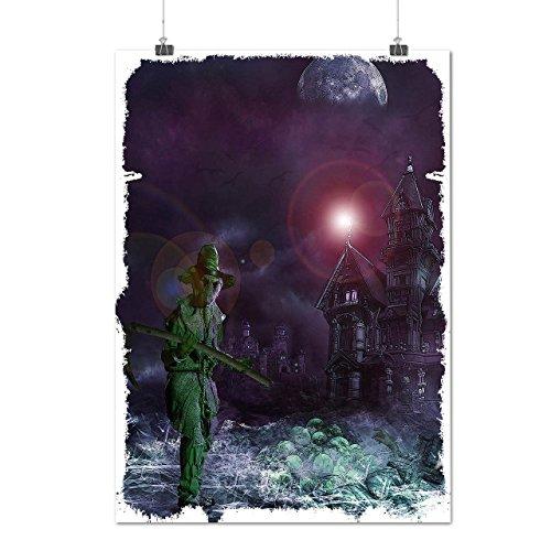 Halloween Night Horror Horror World Matte/Glossy Poster A4 (9x12 inches) | Wellcoda