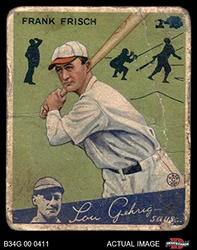 1934 Goudey # 13 Frankie Frisch St. Louis Cardinals (Baseball Card) Dean's Cards 1 - POOR Cardinals 51ws5RT7QFL