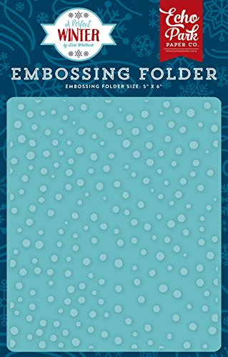 Echo Park Paper Company Embossing Folder-Snow (Paper Embossing)