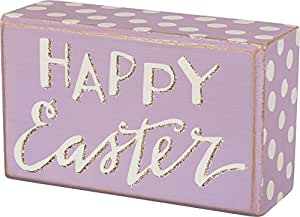 """Box Sign - Happy Easter SIZE: 5"""" x 3"""""""
