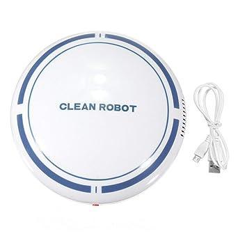 USB Recargable Smart Clean Robot Aspirador Automático Limpiador de pisos Barredor Limpiador Doméstico Bajo Ruido Colector