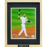 Derek Jeter Framed Photo With A Laser Engraved Label Official Major League Baseball Memorabilia 12''x15''