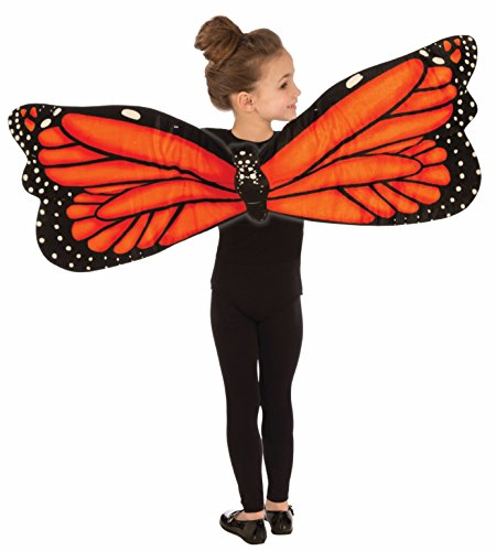 Forum Plush Butterfly Child Wings Costume, (Orange Standard Wing)