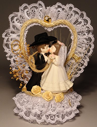 Charm Wedding Unity Candle - Roped With Love Western Wedding Cake Topper