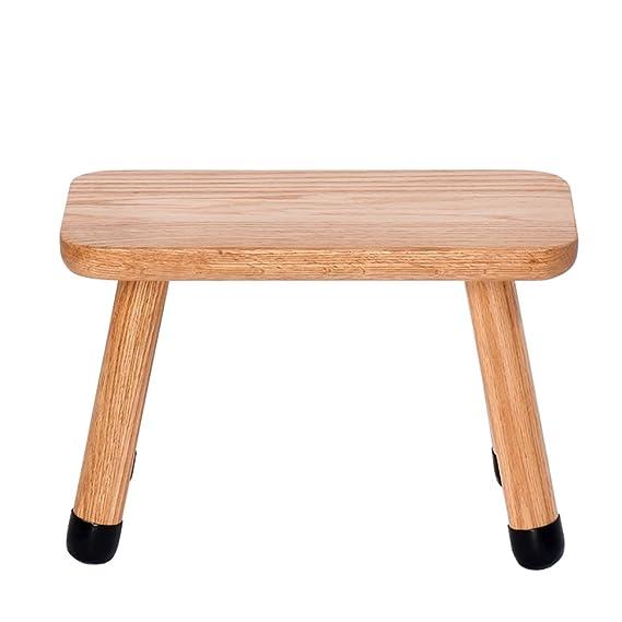 Amazon.com: Banco pequeño de madera para niños, taburete ...
