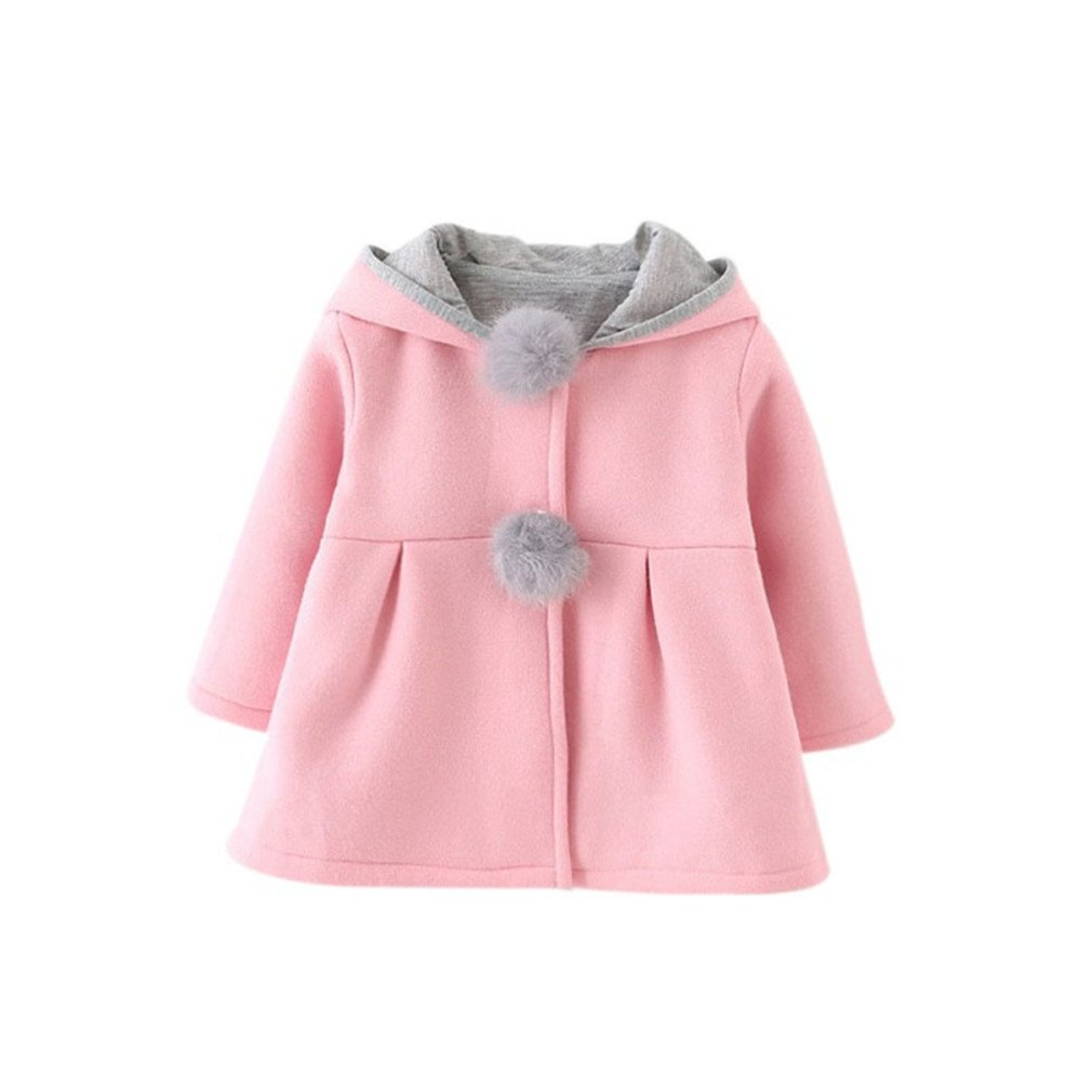 86ae36b58 Amazon.com  Winter Spring Baby Girls Long Sleeve Coat Jacket Rabbit ...