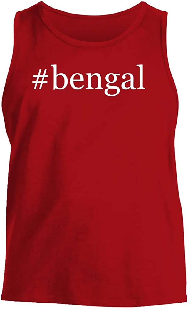 #bengal - Men's Hashtag Comfortable Tank Top, Red, X-Large