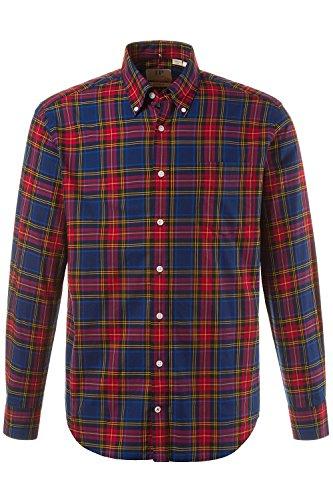 JP 1880 Homme Grandes tailles Chemise à carreaux rouge 3XL 705576 51-3XL
