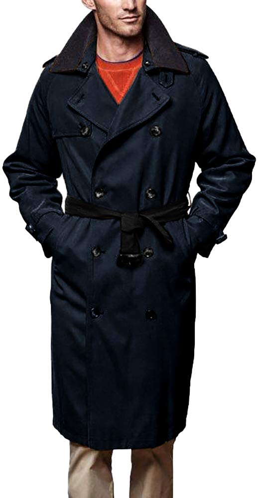 London Fog Men's Iconic Trench Coat, Dark Navy, 42 by London Fog