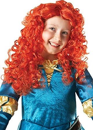 Los niños tamaño princesa Mérida valiente peluca