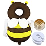 WXBOOM 7Pcs Baby Safety Set - 1Pack Baby Head Protector with 4Pcs L-Shaped Corner Guards and 2Pcs Foam Finger Pinch Guards Door Stoppers to Keep baby Safe