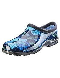 Sloggers Women's Waterproof Rain Garden Shoe Comfort Insole, Spring Surprise Blue, Size 08, Style 5118SSBL08