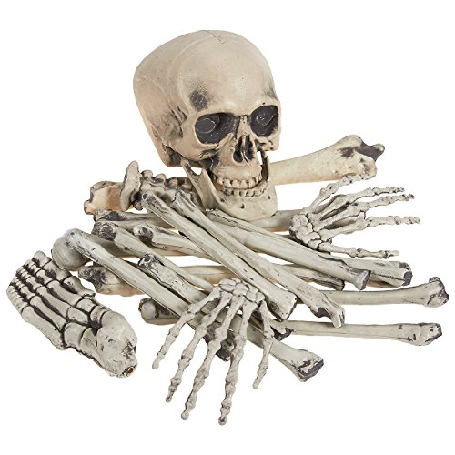 20 Piece Set of Skeleton Bones - Halloween Decoration - Includes Skull and Various Skeleton Parts - Yard and Haunted House Decor