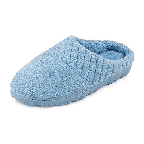 Chenille Micro Slipper Women's Clog MUK LUKS US Blue Large wOTqRZ