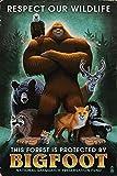 Respect Our Wildlife - Bigfoot (12x18 Art Print, Wall Decor Travel Poster)