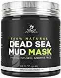 Dead Sea Mud Mask - Refreshing and Rejuvenating Pure Natural Facial Mask- Pore Minimizing and Cleanser - by Natural Escentials - 8.8oz