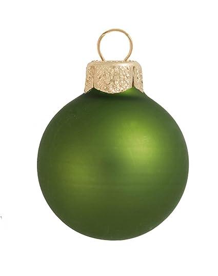 Amazon Com 40ct Matte Lime Green Glass Ball Christmas Ornaments