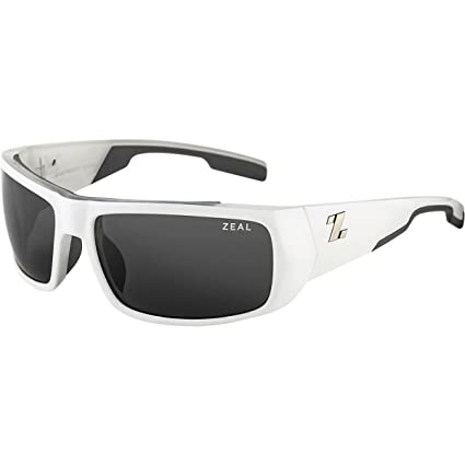 9a07ebd6e4c Zeal Optics Snapshot Polarized Sunglasses - White Frame with Dark Grey  Lens  Amazon.ca  Sports   Outdoors