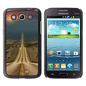 Shell-Star Arte & diseño plástico duro Fundas Cover Cubre Hard Case Cover para Samsung Galaxy Win / I8550 / I8552 / Grand Quattro ( Road Freedom Sunset Open Drive )