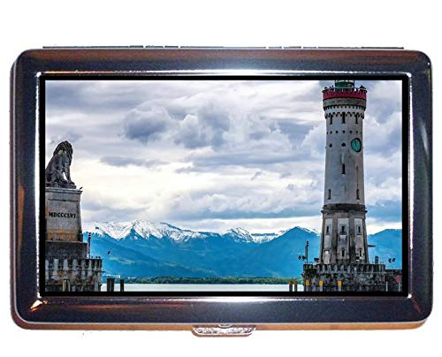 Wallet or Cigarette Case,Lighthouse at Night Protection Credit Business Card Holder Case
