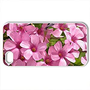 Pink Spring - Case Cover for iPhone 4 and 4s (Flowers Series, Watercolor style, White) by icecream design