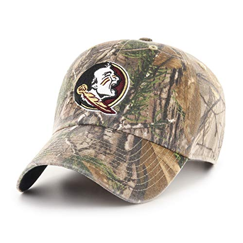 NCAA Florida State Seminoles Realtree OTS Challenger Adjustable Hat, Realtree Camo, One Size