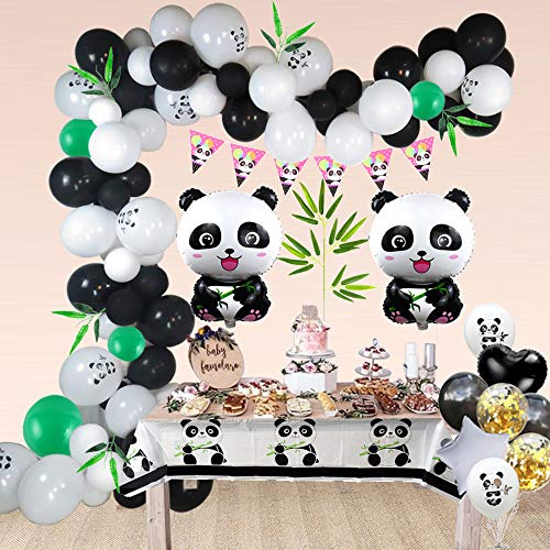 Balloon Garland Panda Arch Kit 16Ft Long Colorful Latex Balloons Pack for Baby Shower Wedding Birthday Bachelorette Party Background Decorations