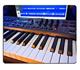 Liili Mouse Pad Natural Rubber Mousepad MIDI Keyboard in a computer music studio Photo 17937630