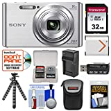 Cheap Sony Cyber-Shot DSC-W830 Digital Camera (Silver) with 32GB Card + Case + Battery & Charger + Flex Tripod + Accessory Kit