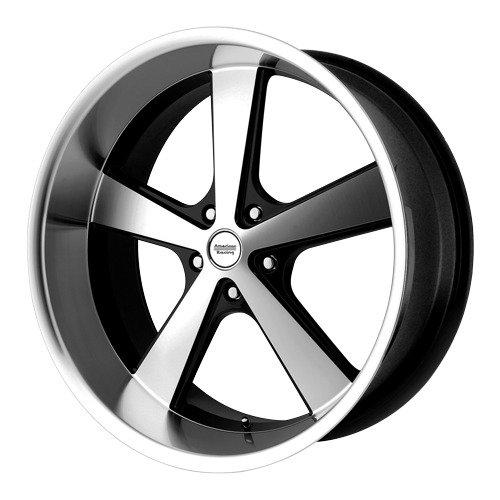 American Racing Hot Rod Nova Gloss Black Wheel with Machined Face (20x10