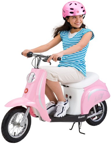 (Razor Pocket Mod Miniature Euro Electric Scooter, Pink (Renewed) )