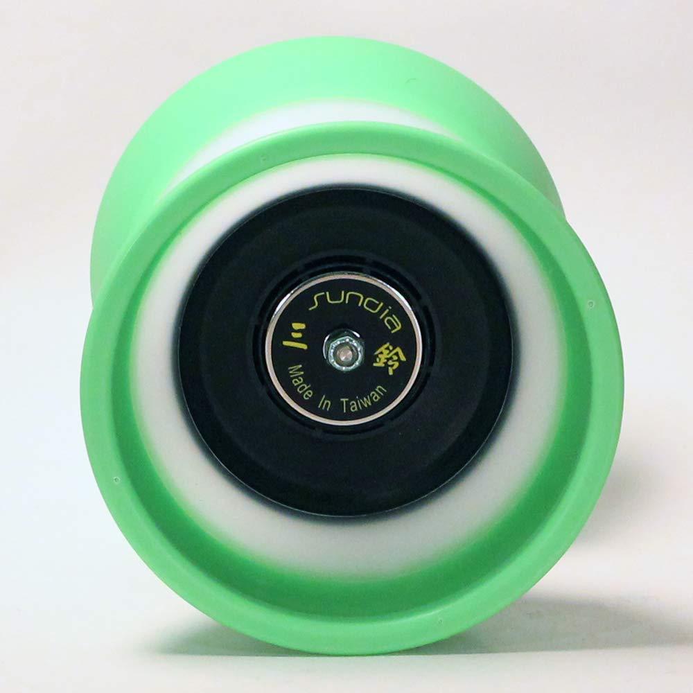 Sundia Evo 5 Diabolo - 5 Bearing - Green -Free Sticks and String by Sundia (Image #2)
