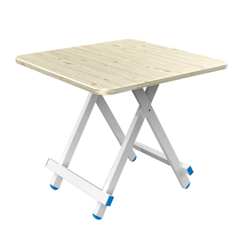 A 80×80×76cm NJLC Picnic Table, Household Folding Small Table Table, Simple Small Folding Table,C,70×70×74cm