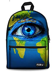 HUGS IDEA Big Eyes Printing Childen School Backpack