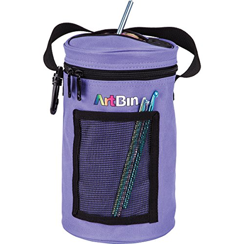 (ArtBin Mini Yarn Drum Knitting and Crochet Tote Bag, Periwinkle 6832AG,)