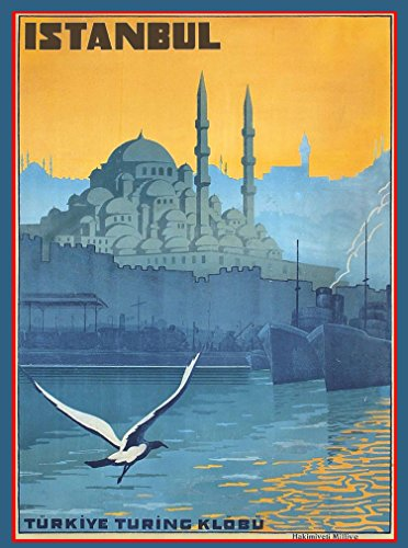 A SLICE IN TIME Istanbul Turkey Turkish Vintage Travel Advertisement Art Collectible Wall Decor Poster Print. Measures 10 x 13.5 inches