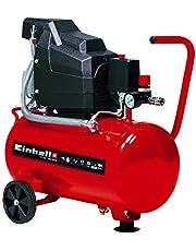 Einhell 4007325 TC-AC 190/24/8 - Compresor de aire, depósito de 24 l, 2850 rpm, 8 bar, 1500 W, 220-240 V, 50 Hz, Rojo/Negro, 578 x 258 x 572 mm
