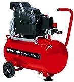 Einhell 24Litre Compressor, AC 190/24/81.5kW Intake Performance 160L/min 8bar, Automatic Pressure Switch