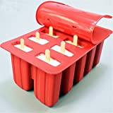 Gooday 10 Cell Frozen Ice Cream Pop Mold Popsicle Maker Lolly Mould Tray Pan Kitchen Tools with 12 Sticks
