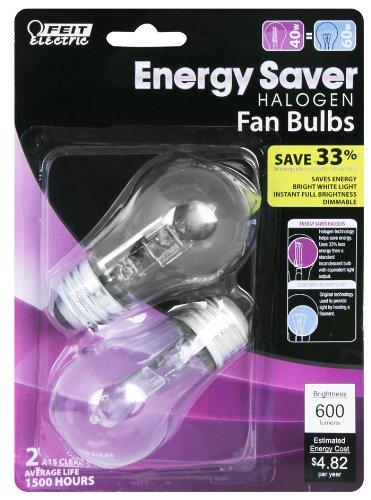 Feit BPQ40A15/CL/2 40-watt ES Halogen A15 Appliance  60-watt Equivalent, 2-Pack