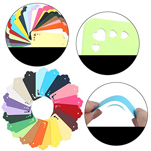 Koogel 200Pcs Gift Tags,20 Colors Tags with String Paper Tags Coloured Gift Tags for Gifts Arts and Crafts Wedding Holiday