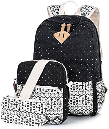 Leaper Canvas Laptop Backpack Shoulder