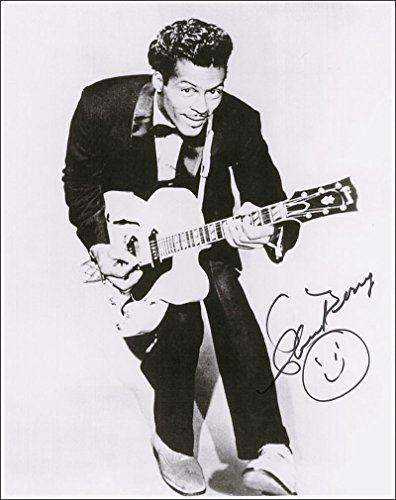 Chuck Berry rock & roll legend reprint signed 8x10 photo #1 RP (Rocks Berry)