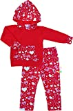 Boutique Clothing Girls Valentine's Day Red Heart Party Hoodie Pant Set 4T/M