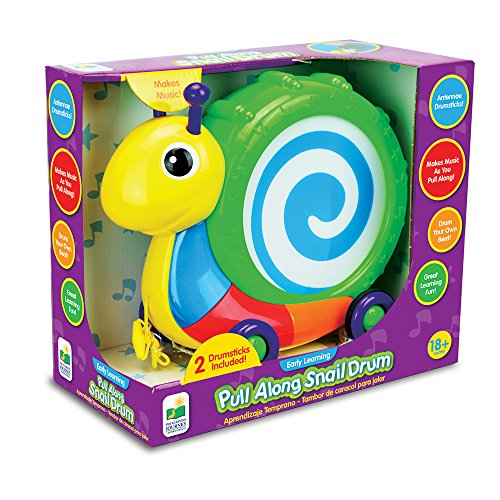 Journey Pull - The Learning Journey Pull Along Snail Drum Instrument Toy