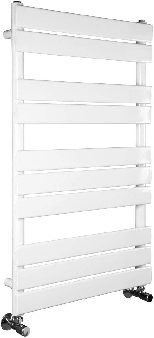 WarmeHaus Minimalist Bathroom Chrome Electric 300 w /& Dual Fuel Heated Towel Rail Radiator Rad 800 x 450 mm